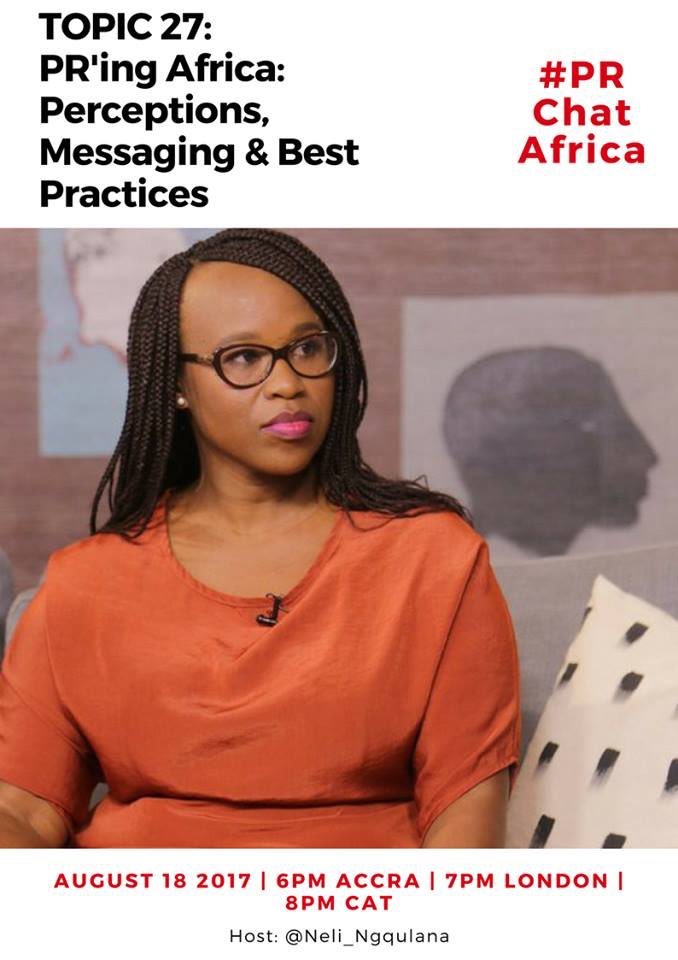 One more sleep until #PRChatAfrica w. @Neli_Ngqulana more insights to be shared and great conversation! #PR #Africa - 8pm time<br>http://pic.twitter.com/qQf7TaMXKG