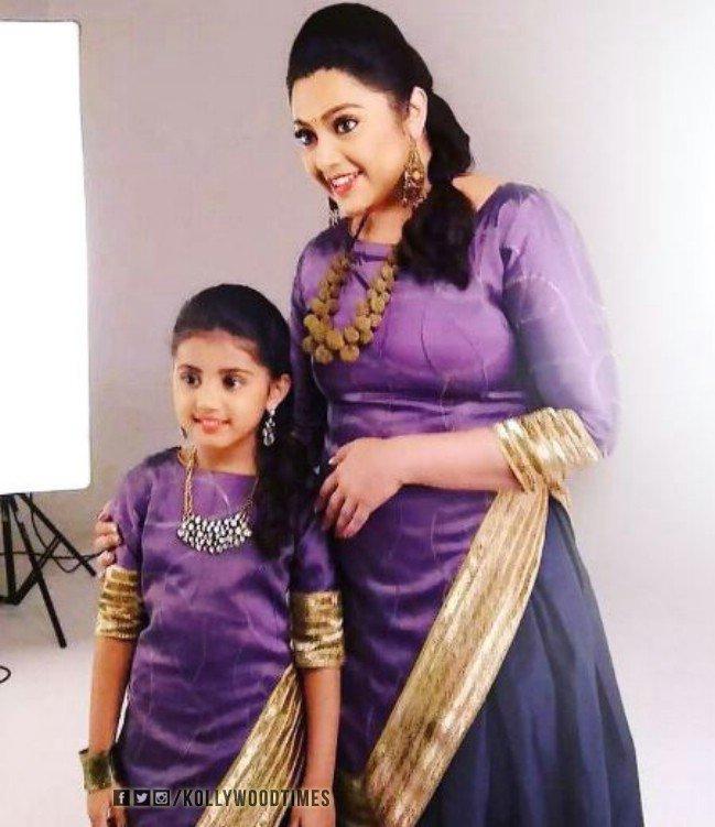 actress meena daughter latest photos