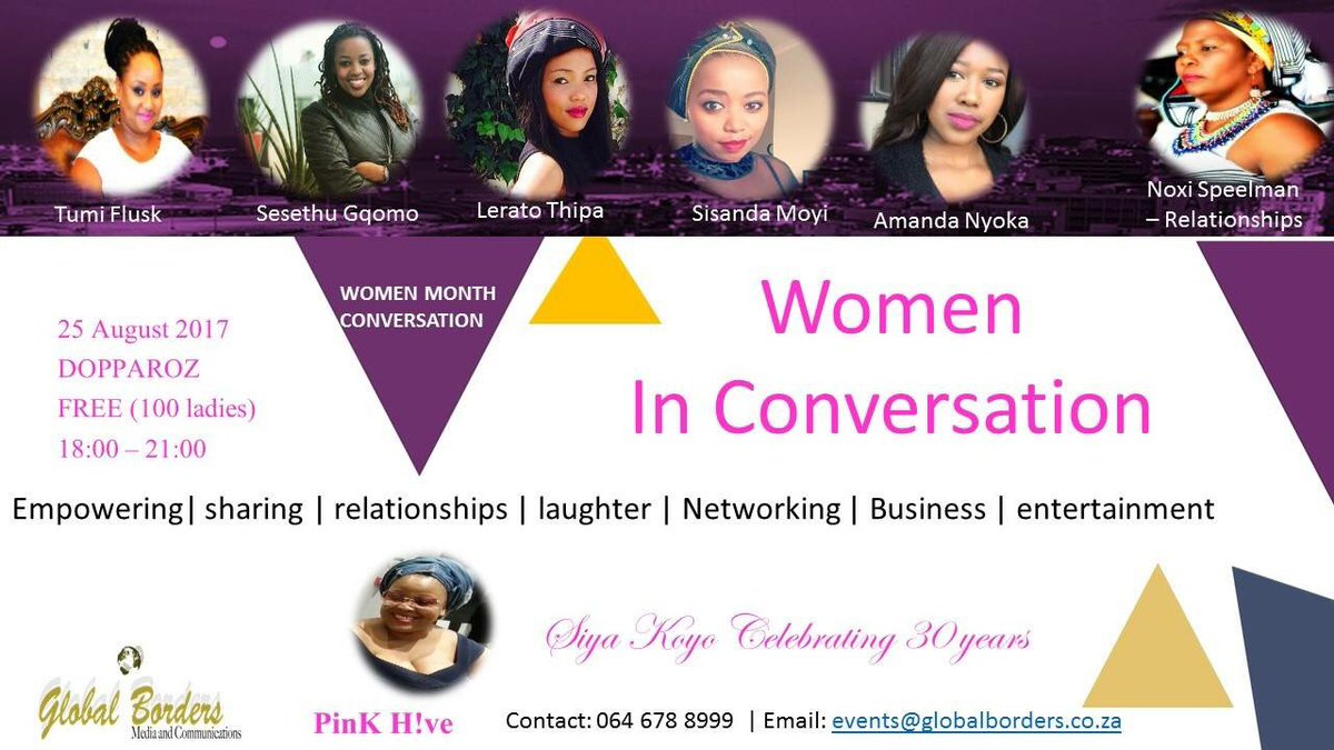 Honored to be a panelist amongst these women.   If you in and around PE come have fun with us 🤗🤗#Womeninconversation #Womandla #Mbokodo