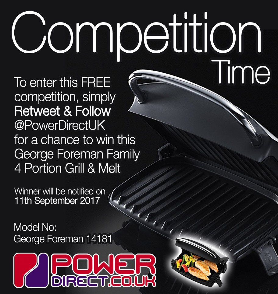#WinItWednesday Enter our #NEW #Competition #Giveaway for a Chance to #Win a George Foreman Health Grill. #RT &amp; #Follow @PowerDirectUK<br>http://pic.twitter.com/zxt2LBYsFS