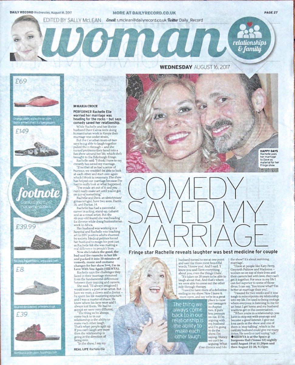 Love the feature @Daily_Record & great to talk to Maria Croce about #shitiminlovewithyouagain @edfringe @theSpaceUK https://t.co/oF0faPYsyU