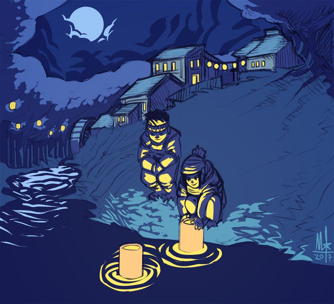 Day sixteen, night lights. Halfway done! #night #lantern #village #sketch #drawgust<br>http://pic.twitter.com/EhuOYTb2R0