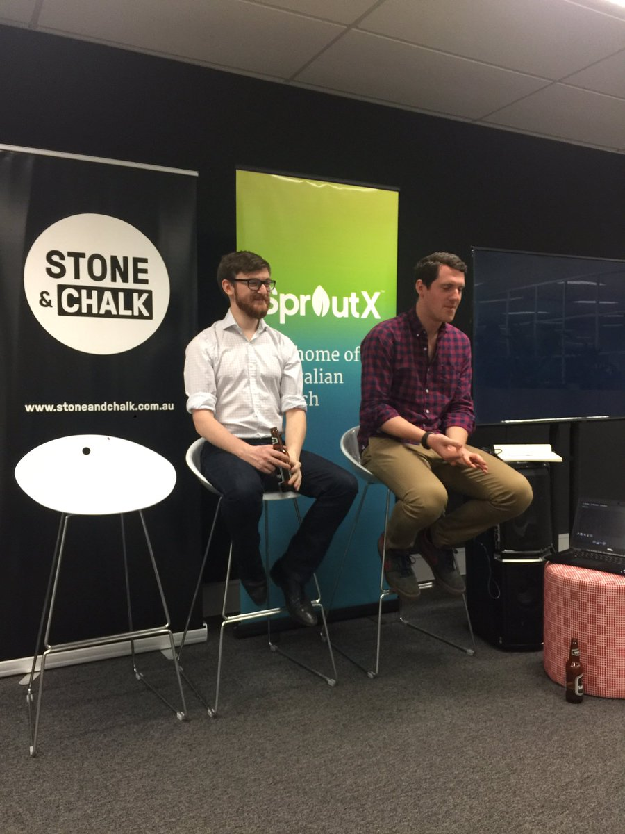 Off we go, talking APIs with the NAB Labs team here at @stoneandchalk Melbourne tonight