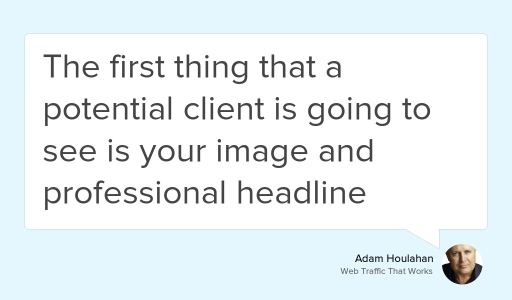 &quot;This area of your LinkedIn profile is the place to capture the attention of potential clients&quot;  https:// goo.gl/0iF1BO  &nbsp;   #Business #Linkedin <br>http://pic.twitter.com/Ft0dIQUtvK