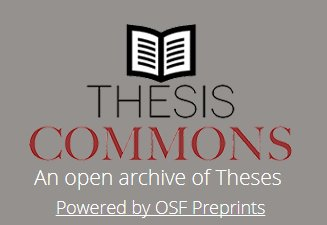 Early career researcherscheck out this new free and #opensource platform for theses&amp;dissertations  https:// thesiscommons.org / &nbsp;   #openscience <br>http://pic.twitter.com/vwEw5D49ra