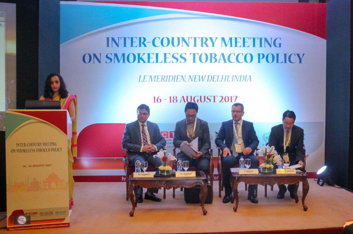 #Inauguration  #Inter-Country Meeting on Smokeless Tobacco, New Delhi  #Global Knowledge Hub on Smokeless Tobacco, ICMR-NICPR, @NICPR_Noida<br>http://pic.twitter.com/HtFAllobGq