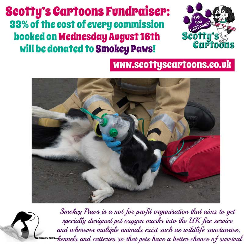 Happy #woofwoofwednesday @ScottysCartoons are #donating 33% of the cost of #commisions booked today to help us save #pets #lives. #cartoons<br>http://pic.twitter.com/2P5UUaAVsX