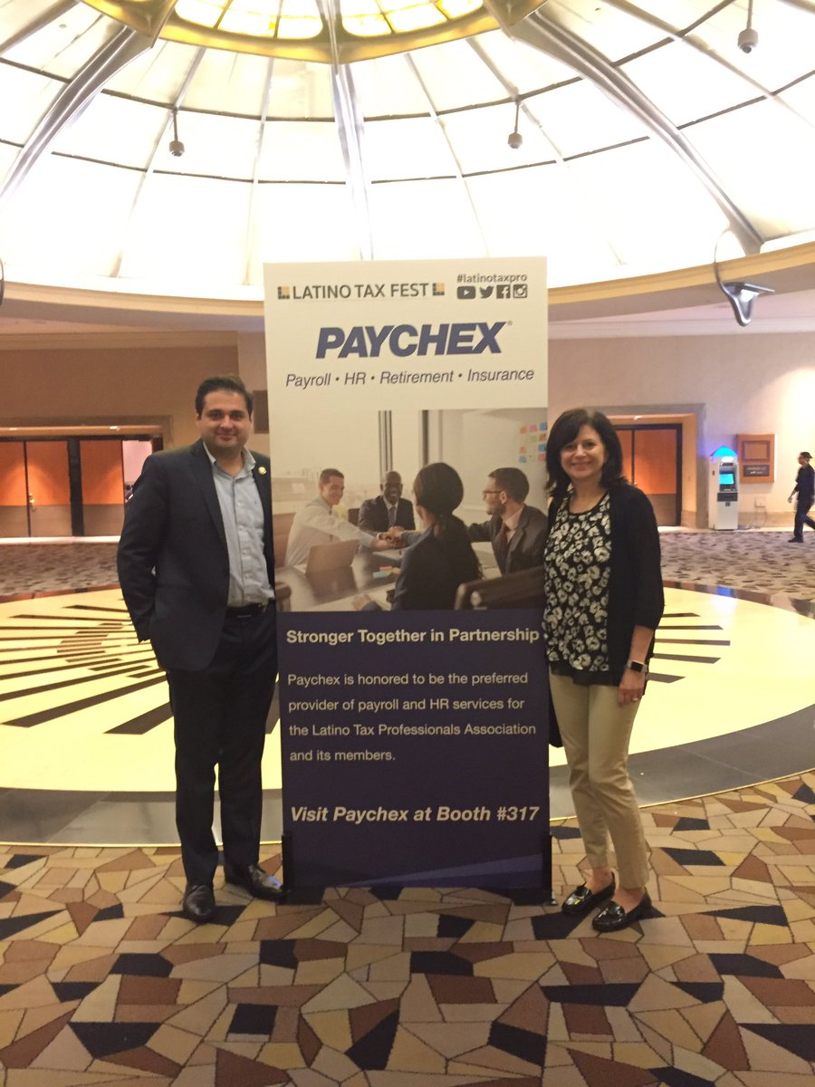 #proud to #partner with @Paychex to provide tools and #resources to #Latino Biz Owners. #latinotaxfest<br>http://pic.twitter.com/O1vyHwkurs