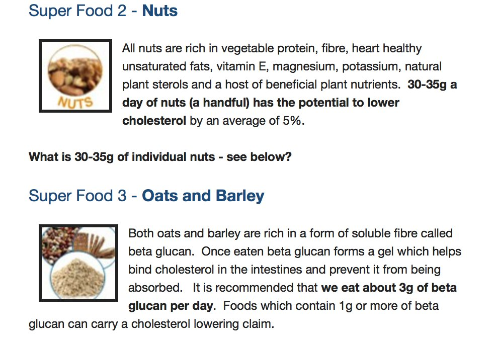 Https Heartuk Org Uk Cholesterol And Diet Six Super Foods For Lower Cholesterol