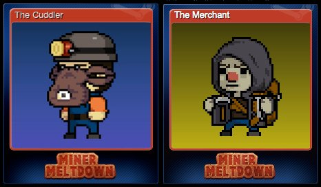 #MinerMeltdown Steam trading cards are here! Also, play this month to unlock the new &quot;Shy Miner&quot; skin! #indiedev #videogames #pixelart<br>http://pic.twitter.com/tHjReKdn5W