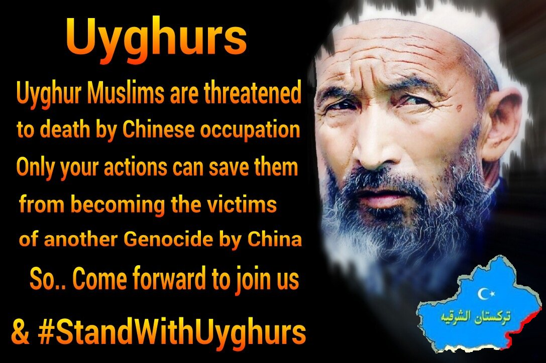 #Uyghur Muslims are scared to death due to #China's crackdown on them!  Please Don&#39;t Keep Quiet! #StandWithUyghurs #WeAreUyghurs #Share<br>http://pic.twitter.com/7aCs77hBiO
