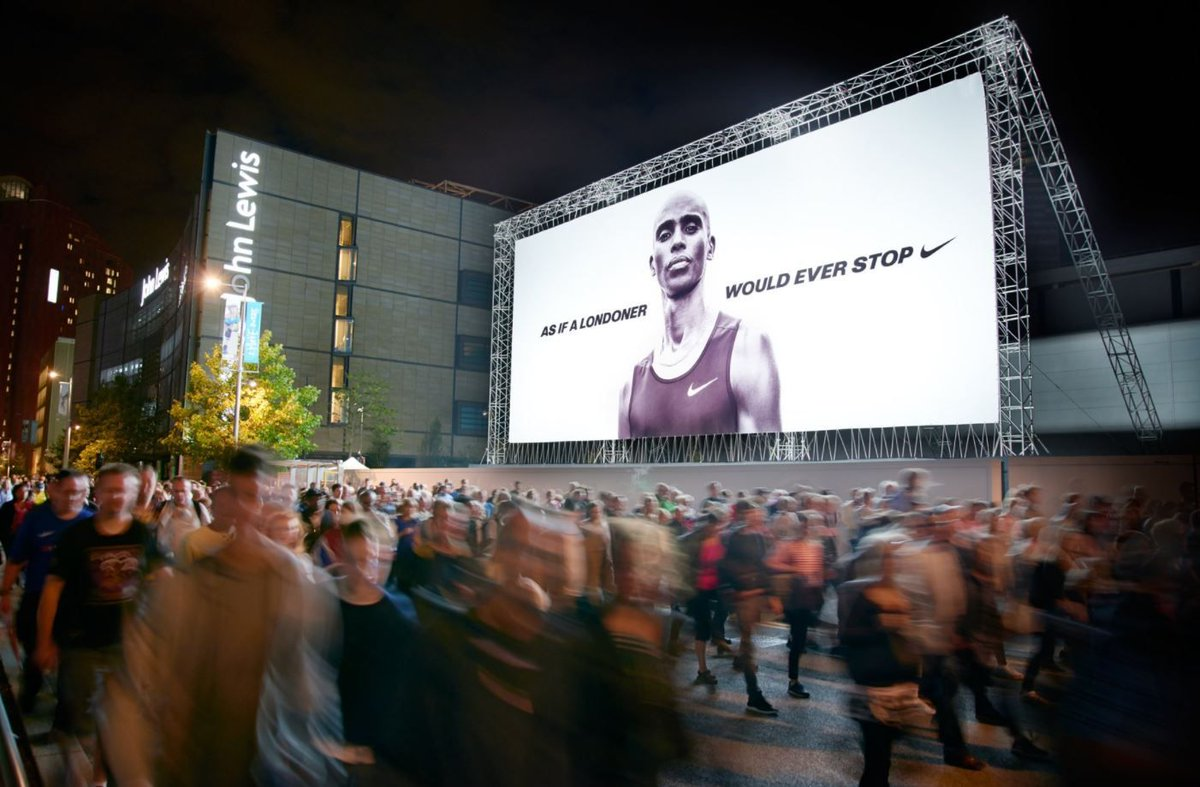A fitting #poster of the great @Mo_Farah from @Nike at @westfieldstrat #OOH #DOOH @OceanOutdoorUK @kineticww #Impact #Fame #StandOut<br>http://pic.twitter.com/gCFpj3qUYB