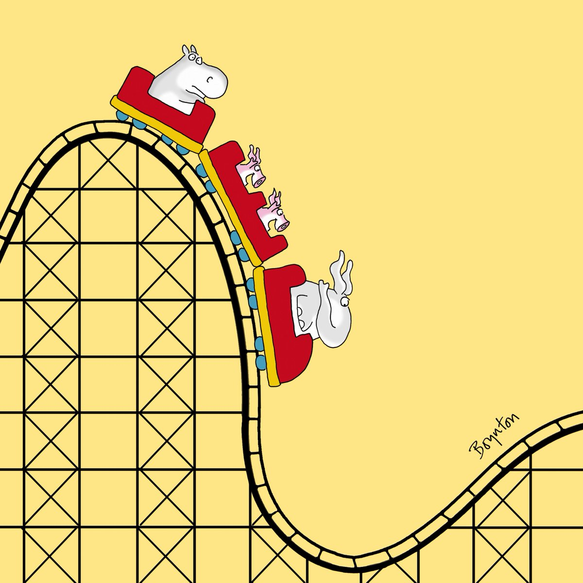 It's #NationalRollerCoasterDay Customarily, they go up after the down...