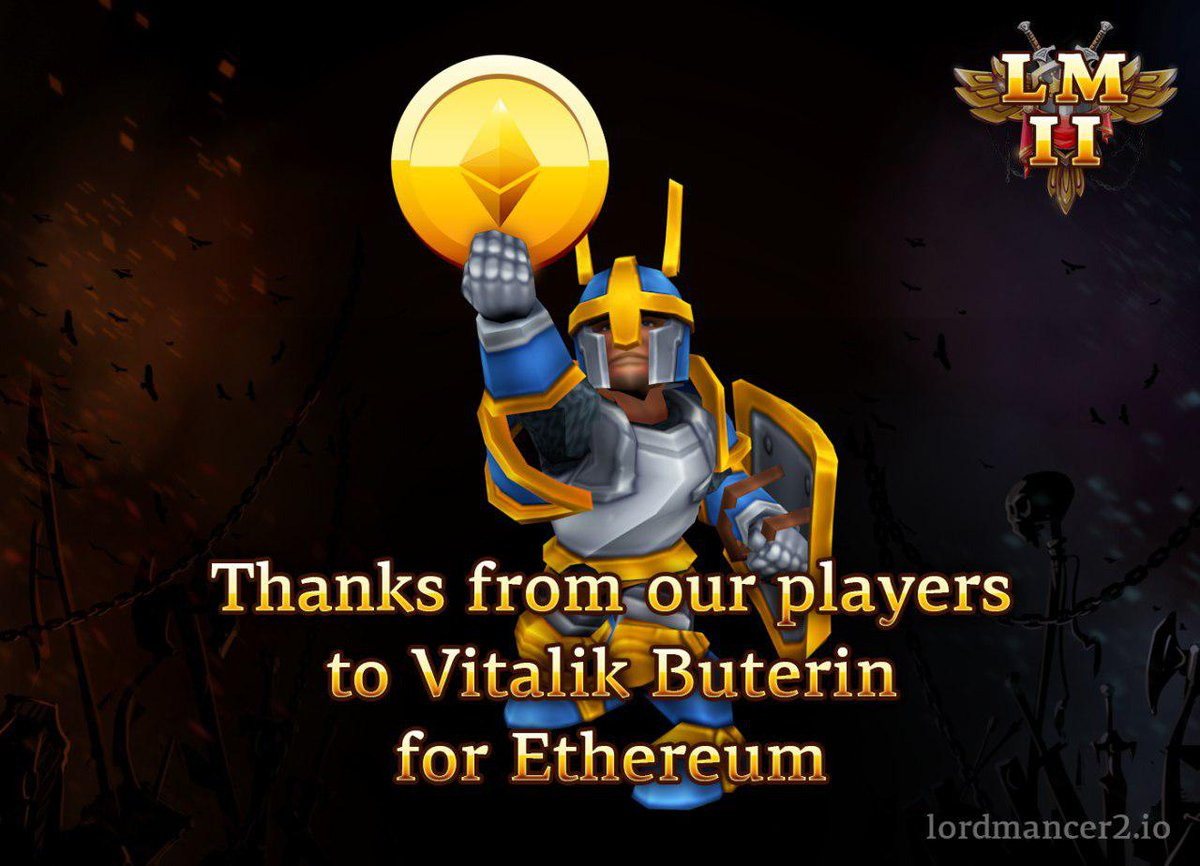In Lordmancer II gamers will be able to earn cryptocurrency! Many thanks to @VitalikButerin and @ethereumproject #ico #mmo #mmorpg #ethereum<br>http://pic.twitter.com/80RgUIA9zJ