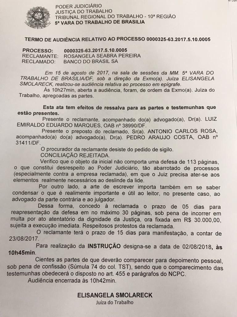 Juíza manda advogado reduzir defesa para até 30 páginas: https://t.co/cn24a9kUpS