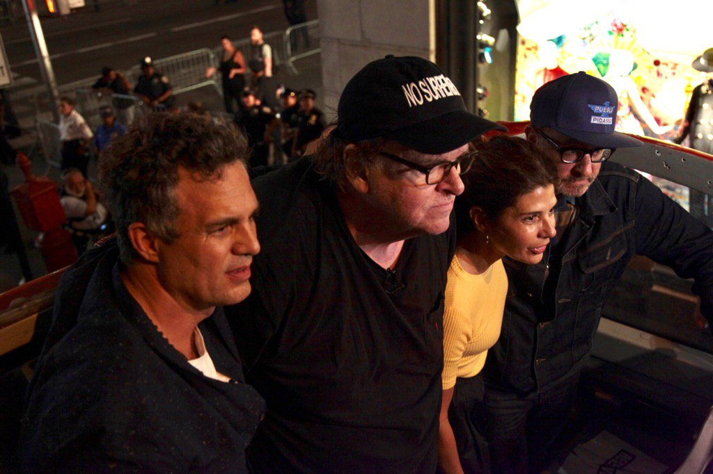 At last night's protest at Trump Tower, with Mark Ruffalo, Marisa Tome...