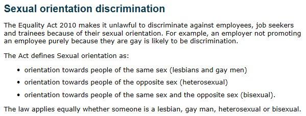 Define sexual orientation discrimination