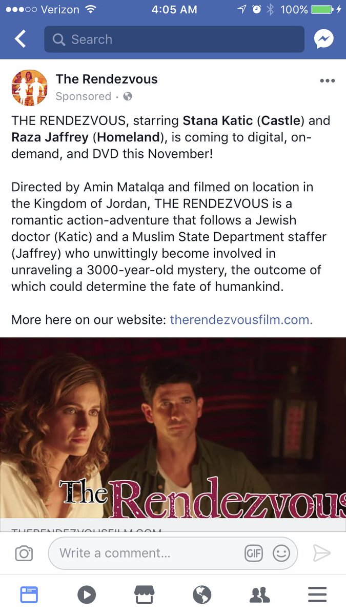 On the bright side...this popped up in my Facebook feed. So excited to see #StanaKatic in #TheRendevouz in a few months here in the US!<br>http://pic.twitter.com/6ocRIsI5Uf