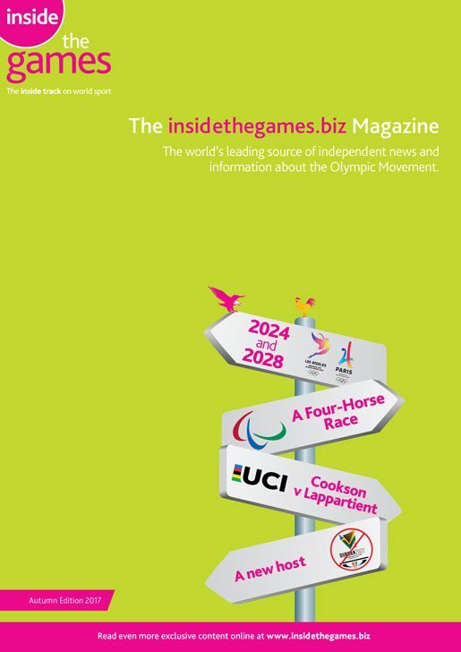 The latest edition of the award-winning @insidethegames magazine can be read online now  http:// ow.ly/bb4W30erF29  &nbsp;   #olympics #paris2024 #LA2028<br>http://pic.twitter.com/8msFJKKXgM