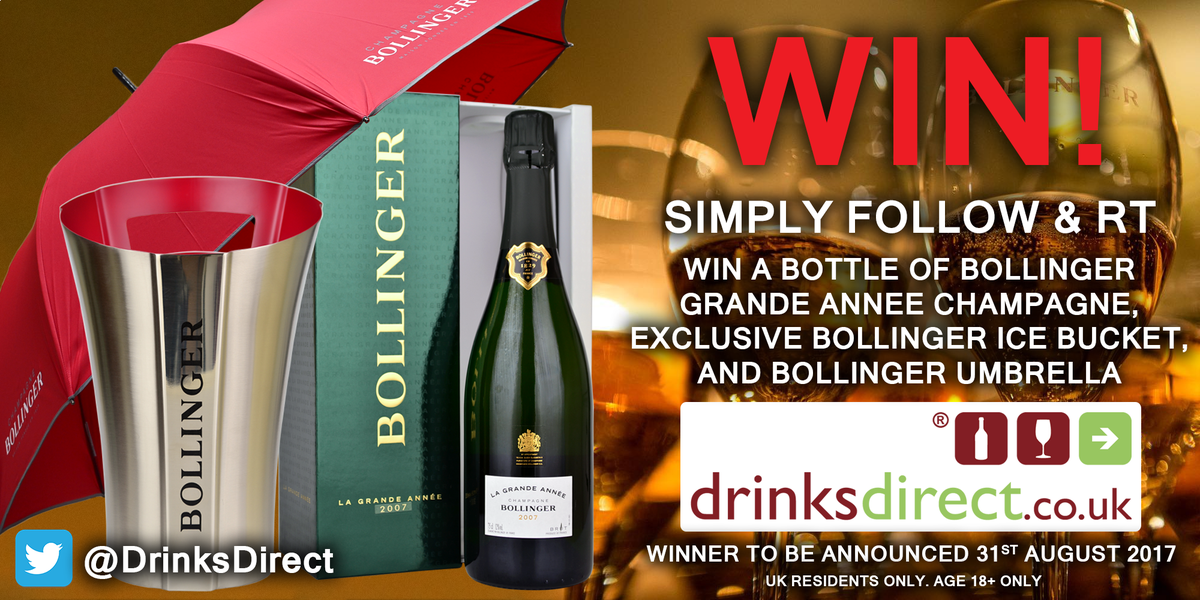 #WinItWednesday! Our Bollinger #Champagne #Competition is still running! For your #free chance to #win, #RT &amp; #Follow @DrinksDirect<br>http://pic.twitter.com/iYPqEIN9JA
