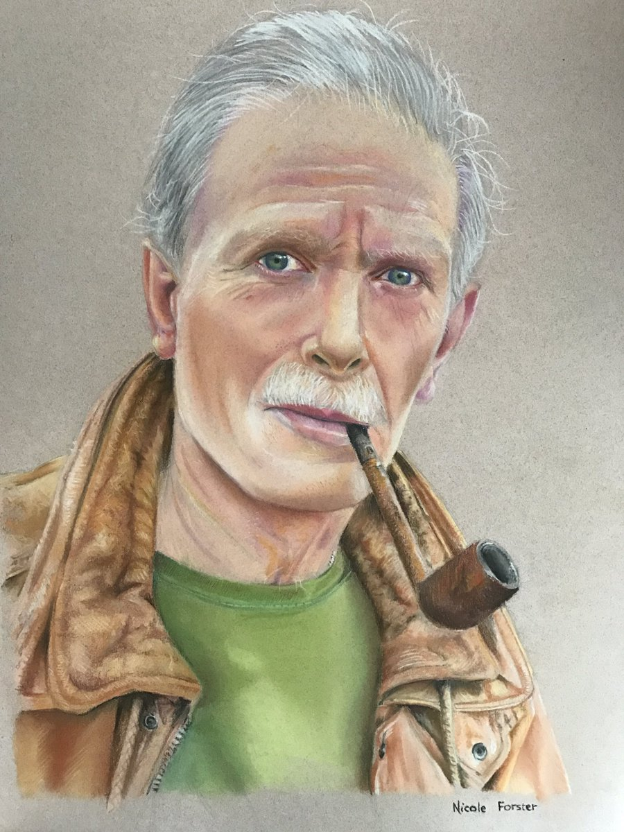 Pastel portrait of my dad. I drew this in February. #art #portrait <br>http://pic.twitter.com/qtZad4I1hN
