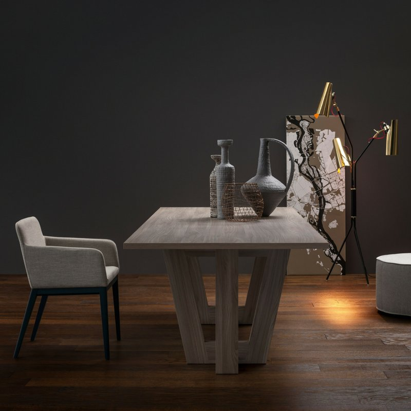 A contemporary dining room with a #midcentury lighting touch. Simply #unique. Discover Jackson Floor Lamp:  https:// goo.gl/qrtvAE  &nbsp;   <br>http://pic.twitter.com/PI71KhpdB1