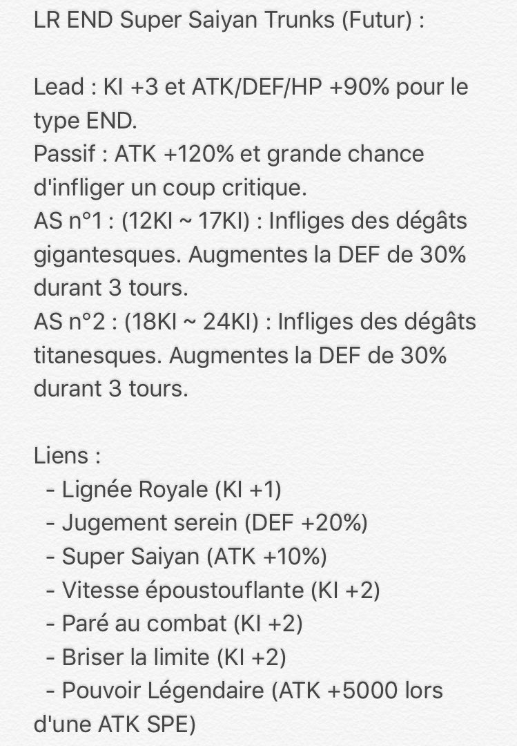 Trunks LR | Dragon Ball Z - Dokkan Battle France