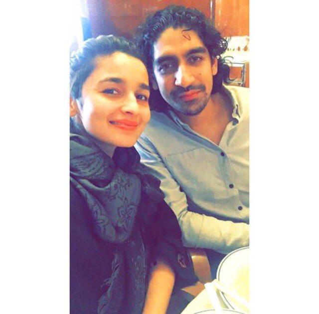 .@aliaa08 poses with her #Dragon director #AyanMukherji https://t.co/9...