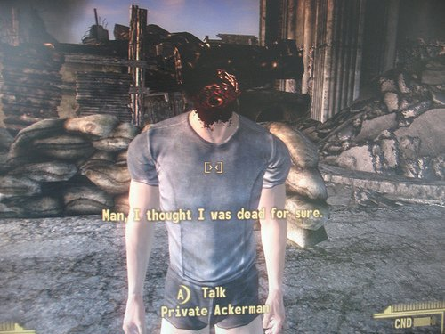 Are they bugs or engineered meme generators? Yeah, just bugs...  Credit:  https://www. reddit.com/r/gaming/comme nts/6twz6f/maybe_you_should_see_a_doctor/ &nbsp; …  #gaming #videogames #newvegas<br>http://pic.twitter.com/s9XPg0D3Sj