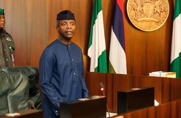 Osinbajo assigned portfolios to ministers sworn in earlier. Ocheni to Ministry of Labour/Productivity, Hassan to Ministry of Power, Works, Housing