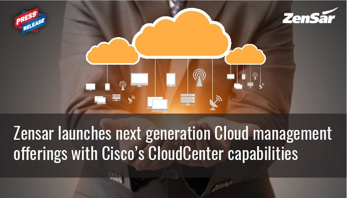 #PressRelease - Zensar launches next gen #cloud management offerings with @CiscoSecurity cloudcenter capabilities  http:// zensar.co/2vD7NuE  &nbsp;  <br>http://pic.twitter.com/bH8E1BYPnE