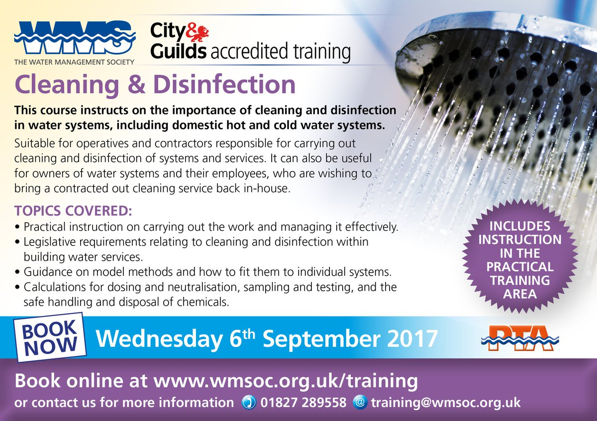 There&#39;s #Still #Time to #Book on our #AccreditedTraining #Cleaning &amp; #Disinfection #Course: 6th Sep.  http:// bit.ly/2b6fHS2  &nbsp;    #Practical <br>http://pic.twitter.com/2ckW9xYrYG