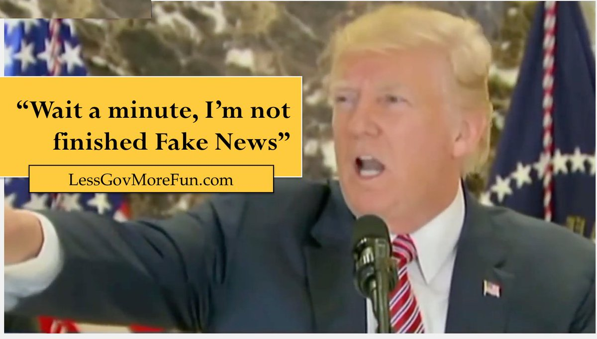 .#Clip of the day: &quot;Wait a minute, I&#39;m not finished Fake News&quot;--President Trump puts #MSM liars in their place  http:// bit.ly/2w0aQhy  &nbsp;   #MAGA<br>http://pic.twitter.com/dvK70ZHf5L