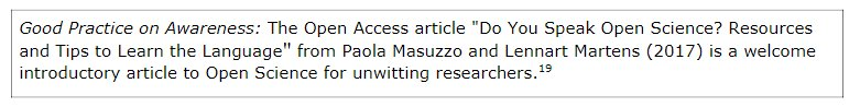 Our article suggested in the latest #EU report on awareness, skills and competences for #openscience. Quite proud of this work! <br>http://pic.twitter.com/A5KkO4wcZE
