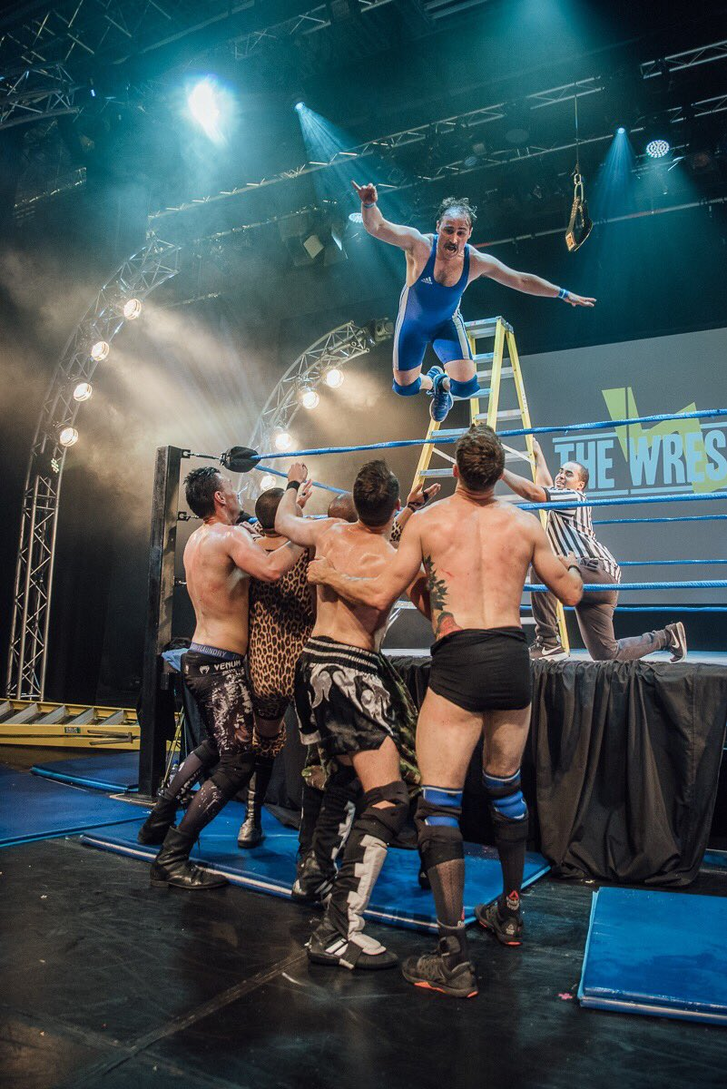Waking up a bit sore but enormously proud of all who made #TheWrestling possible. ❤️
