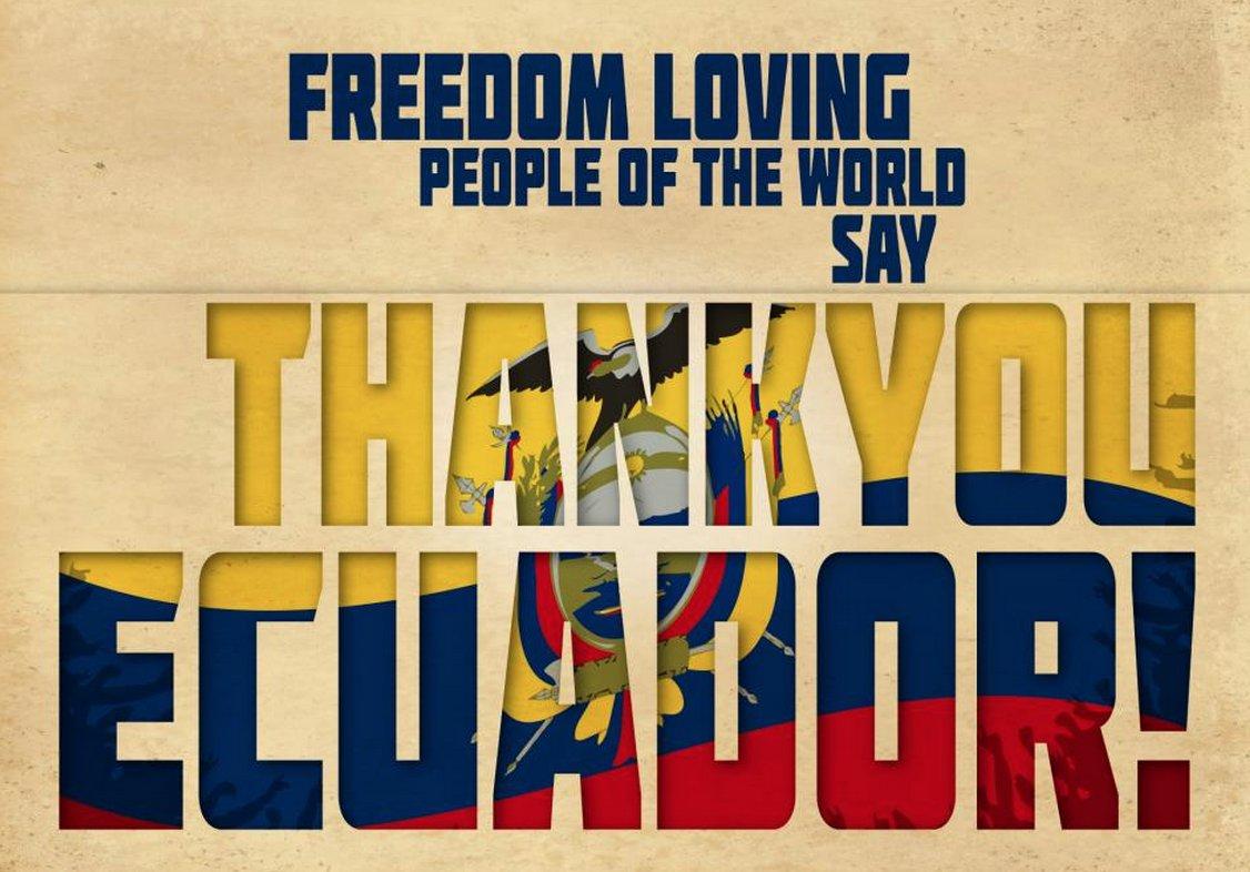 5 years ago today Julian Assange was granted political asylum by #Ecuador. People of Ecuador, we are forever grateful!! #VivaElEcuador  <br>http://pic.twitter.com/uudHsRwuj5