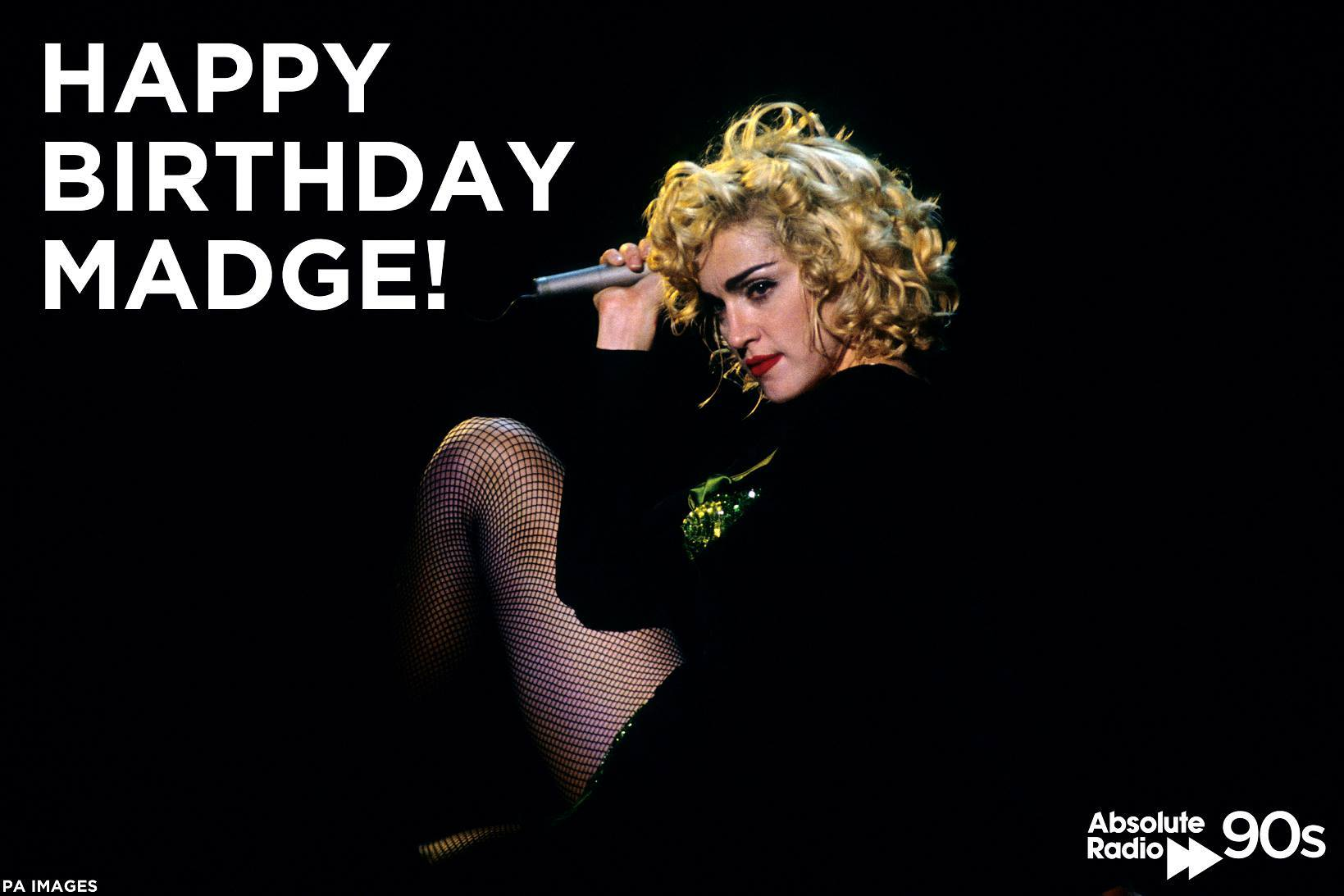Happy Birthday to Madonna!  What is your favourite 90s Madge song?