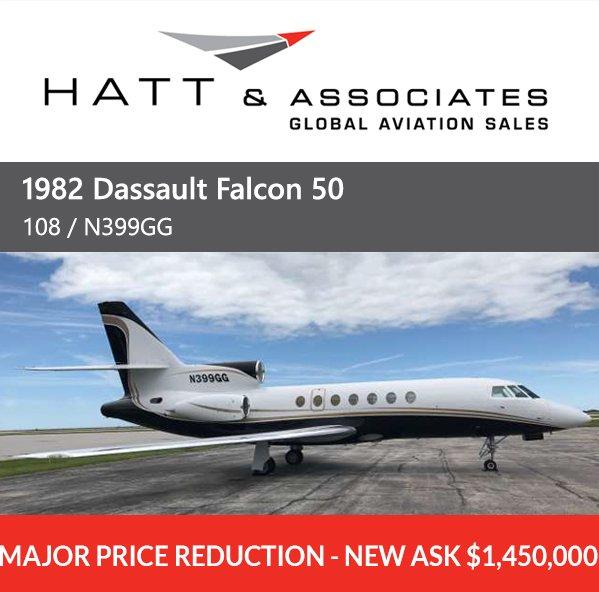 Major Price Reduction - 1982 Dassault Falcon 50 at @Hatt_Aviation. Learn more at #bizjet #bizav #aircraftforsale  http:// ow.ly/fXng30eraQZ  &nbsp;  <br>http://pic.twitter.com/8xUtPmrrmH