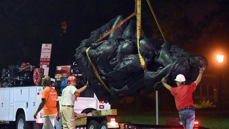 """""""It's done:"""" Confederate statues in Baltimore removed overnight https://t.co/AfOlsErQm4"""