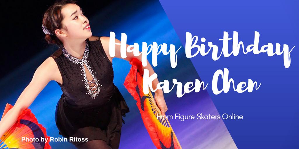 Wishing a very happy 18th birthday to U.S. Champion @Karebearsk8!  #happybirthday  http://www. figureskatersonline.com/karenchen  &nbsp;  <br>http://pic.twitter.com/Y2au3SrdtW