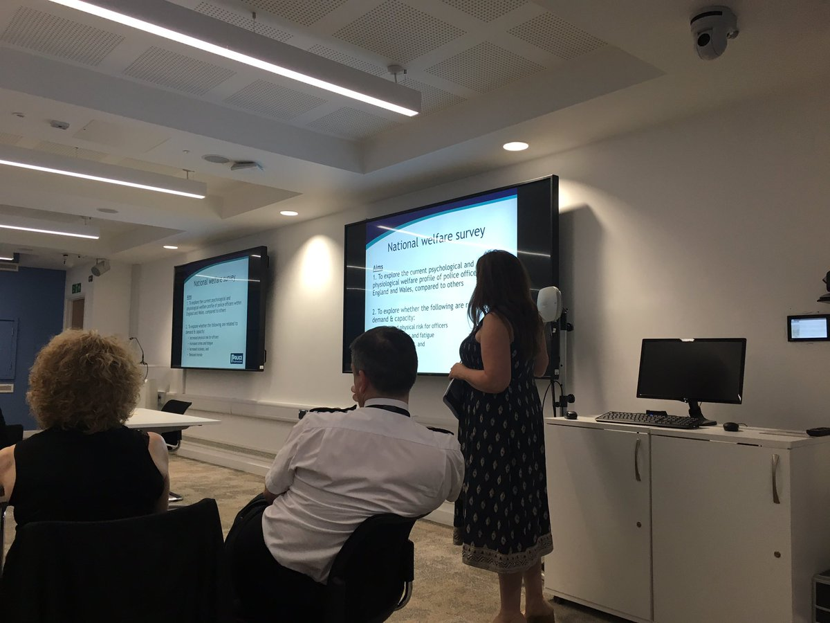 Great presentation given by @PFEW_HQ Dr Joan Donnelly to senior leaders of @WMPolice today regarding resilience issues of members #influence <br>http://pic.twitter.com/WYYfzG3t3q