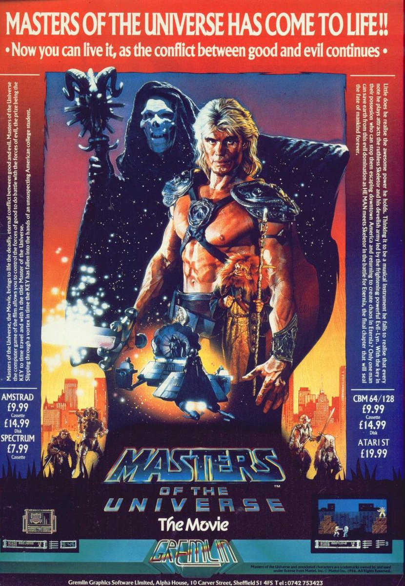 MASTERS OF THE UNIVERSE - THE MOVIE: Here&#39;s a UK ad for the 1987 movie tie-in game from Gremlin #retrogaming #zxspectrum #c64 #HeMan #gaming<br>http://pic.twitter.com/SrzDTBGTDL