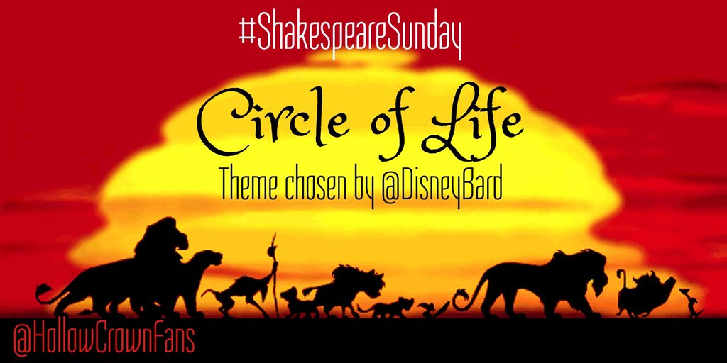 This weekend's #ShakespeareSunday theme has been chosen by @DisneyBard...