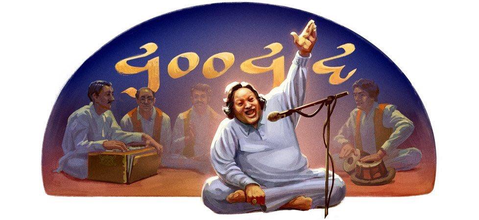 1997-2017:   Remembering #NusratFatehAliKhan on his 20th death anniversary #GoogleDoodle <br>http://pic.twitter.com/NBQglTmzpf