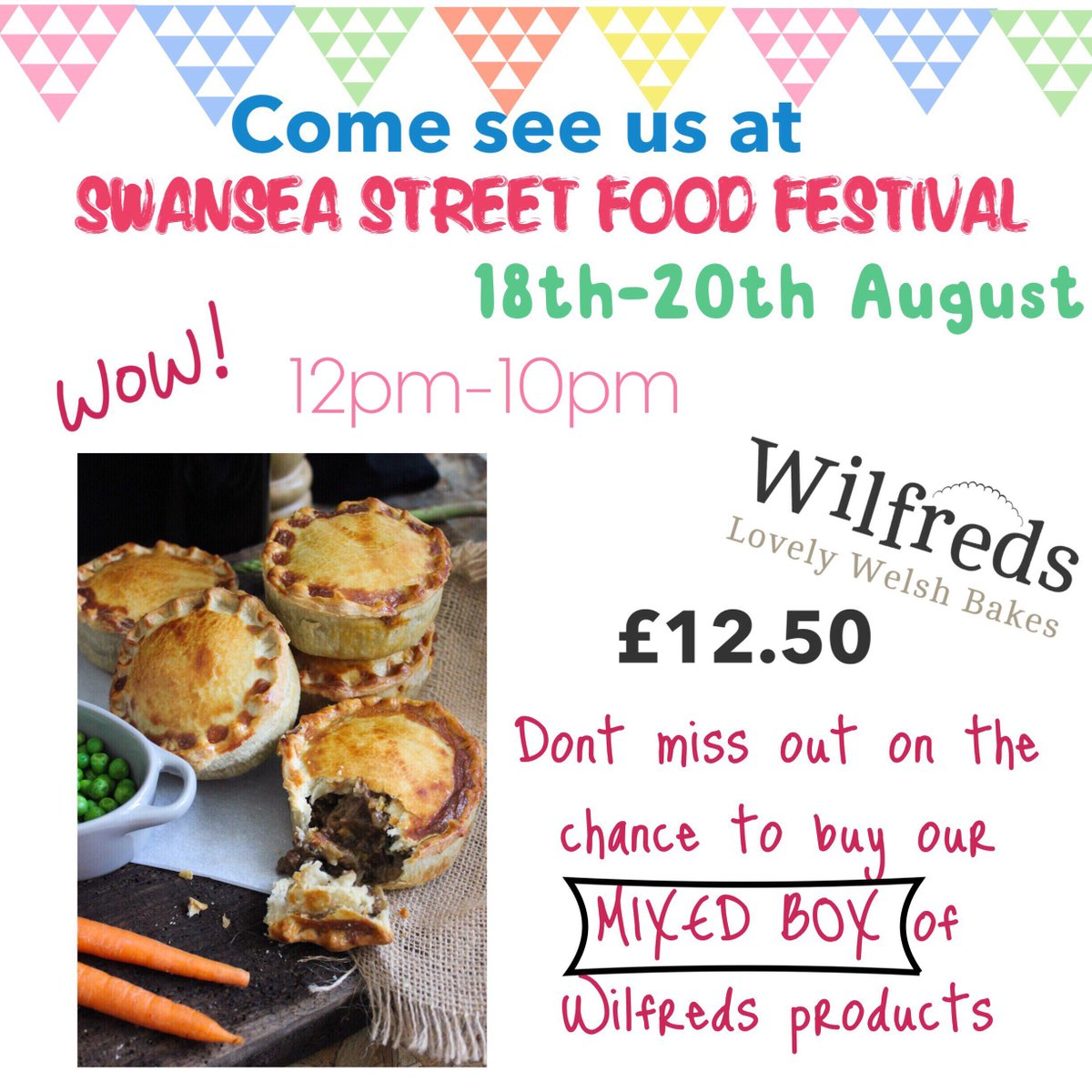 test Twitter Media - Get yourselves down to @SwansStreetFood this weekend for a chance to buy a mixed box of #Wilfredspies @GowerBrewery @collierscheese #Swansea https://t.co/mf2vrRCSXl