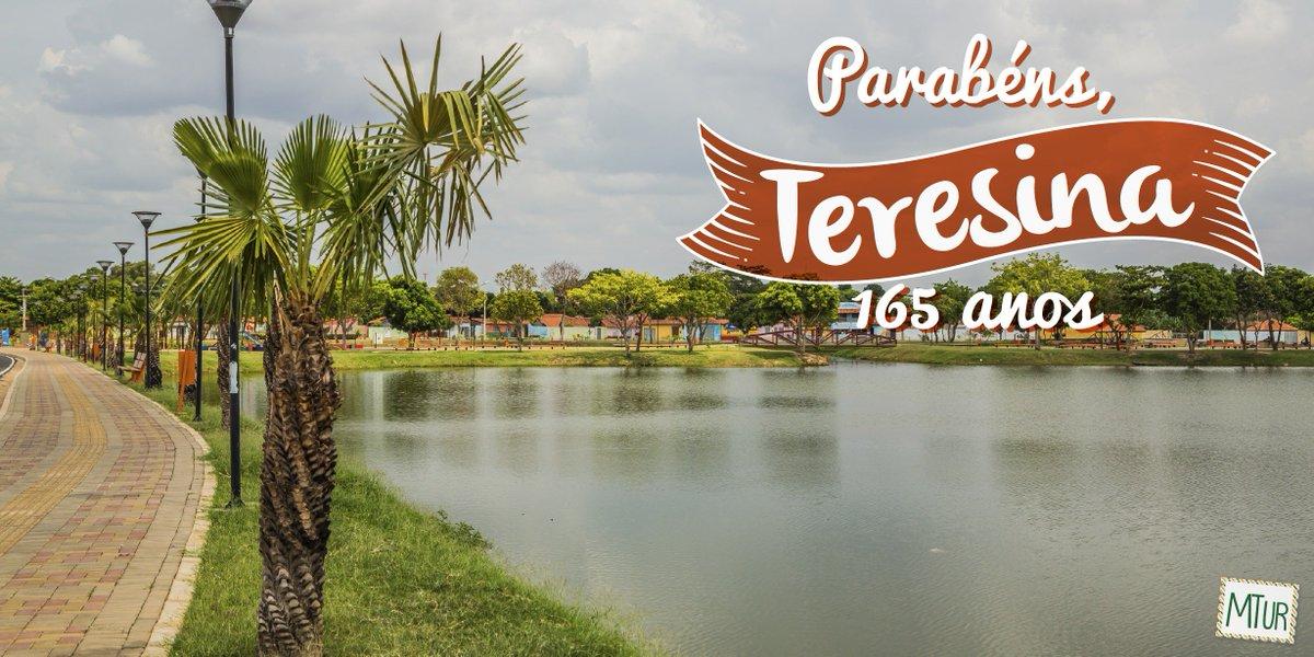 🎈🎈👏 PARABÉNS TERESINA (PI) 👏🎂🎈 A capital piauiense completa 165 anos! 🍰