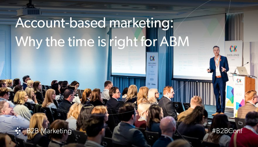 Find out why now is the right time for #ABM in B2B https://t.co/TwmjPcK9OS https://t.co/kZlZyaD3Zi
