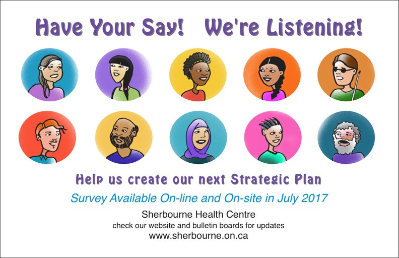 Reminder: Fill out Sherbourne&#39;s #Strategic #Plan survey &amp; help shape our direction! Survey remains open til Aug. 31!  https://www. surveymonkey.com/r/KR5V3MD  &nbsp;  <br>http://pic.twitter.com/jZmQYL6ORO