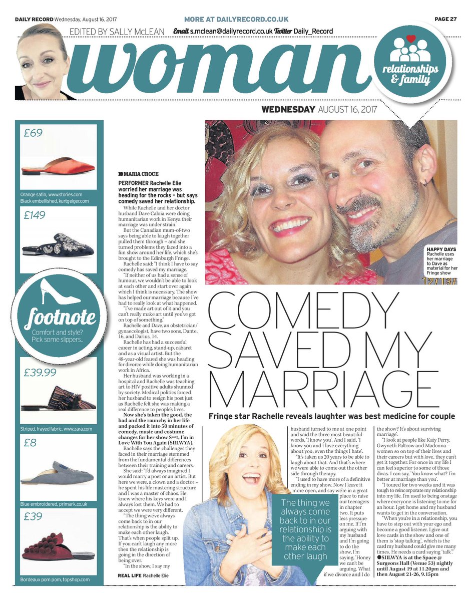 Thanks @maria_croce & @MatthewShelley for the great article in @Daily_Record. Having a blast at #EdinburghFestivalFringe @edfringe