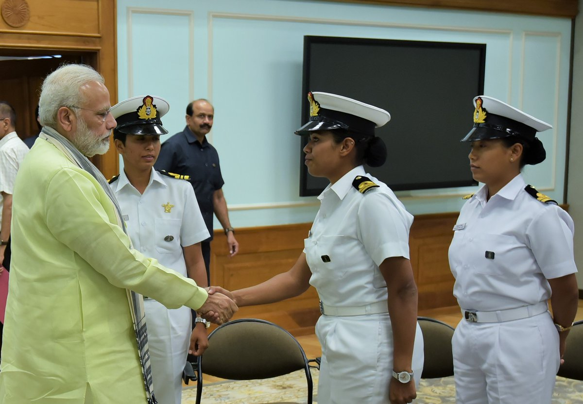 Discussed a wide range of issues with Lt. Payal Gupta. She belongs to the hill state of Uttarakhand & has distinguished herself as a sailor!
